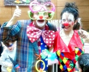 children's party entertainers in Madrid clowns